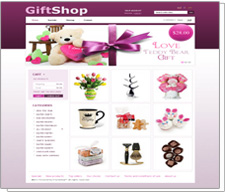 Corporate Web Design Templates - Gift Store