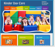 Daycare Web Design Templates