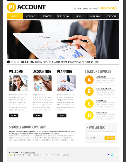 PJAccount - Corporate Web Design Template