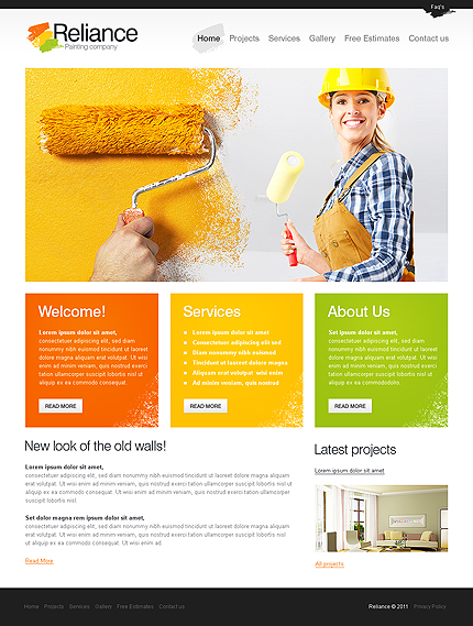 Reliance Painting Corporate Web Design Template