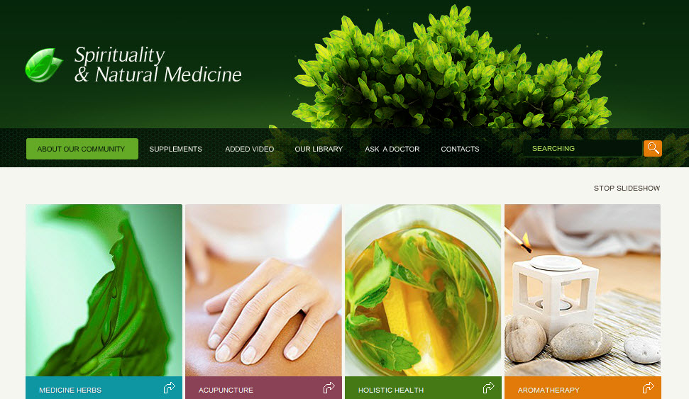 Acupuncture & Spirituality Medicine - Corporate Web Design Template