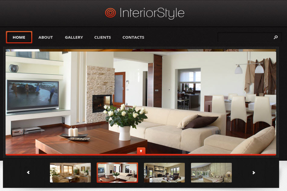 Target interior design corporate web design template for Websites for interior designers