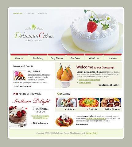 Cake Shop Website Template. 9 best sweet shop website templates ...