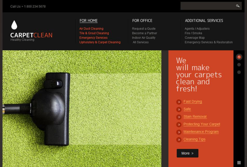 Carpet Cleaning Corporate Web Design Template